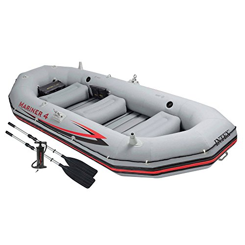 Intex 68376NP - Barca hinchable Mariner 4 con remos de 137 cm,...