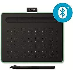Tablette à stylet Wacom Intuos S Bluetooth, Pistache-Tablette graphique sans fil pour la peinture,le dessin et la retouche photo avec 2 logiciels créatifs gratuits*,compatible Windows & Mac