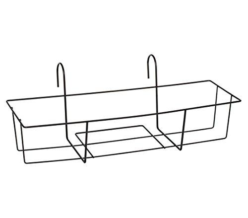 Dehner Blumenkastenhalter Trixie, ca. 65 x 31 x 24 cm, Metall, schwarz