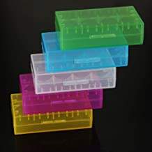 TOOGOO(R) 5 X 18650 CR123A 16340 Hartplastik-Transparent-Batterie-Halter-Speicher