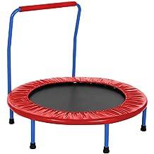 AMDirect Sport Kinder Trampolin mit Griff drinnen oder im Garten Trampolin Jumper für Kinder ab 3 Jahren