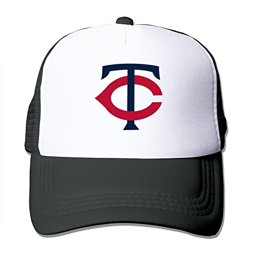 Huseki Minnesota Twins Alternate Logo Adjustable Grid Baseball Cap Hat Black