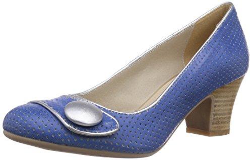 Virus 25377, Escarpins Femme Bleu (garda Blue/charme 0810)