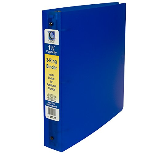 Line 3Ring Poly Binder mit Innentasche 3.81 cm Color May Vary