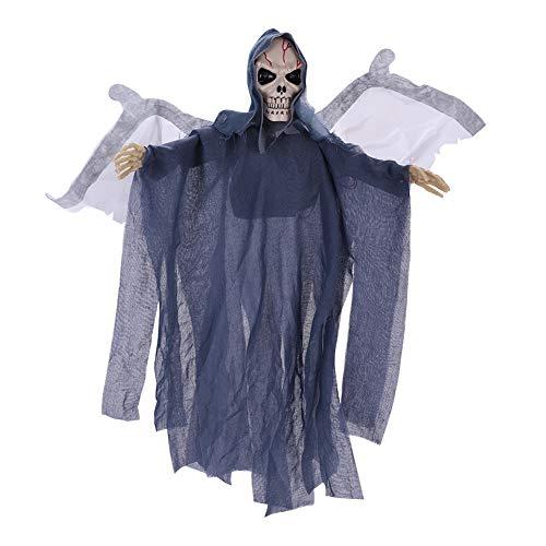 Qchomee Halloween Geister Kostüm Vampir Karneval-Klamotten Horror Gespenst Kostüm Zombie Cosplay Kostüm mit Flügel Schall für Damen Herren Jungen Halloween Kleidung Teufel Kostüm Schauriges Ghost (Teufels Kostüm Für Jungen Halloween)