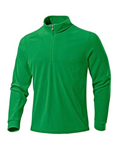 Medico Herren Ski Shirt, Fleece, Langarm, Reißverschluss(Grün, 58)