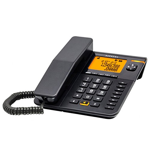 Alcatel T75Analog/DECT Telephone Anrufer-Identifikation schwarz