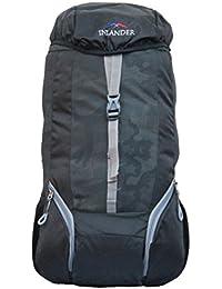 INLANDER 1011-1 Black Rucksack Daypack Backpack Bag For Travel Hiking Trekking & Camping For Men & Women