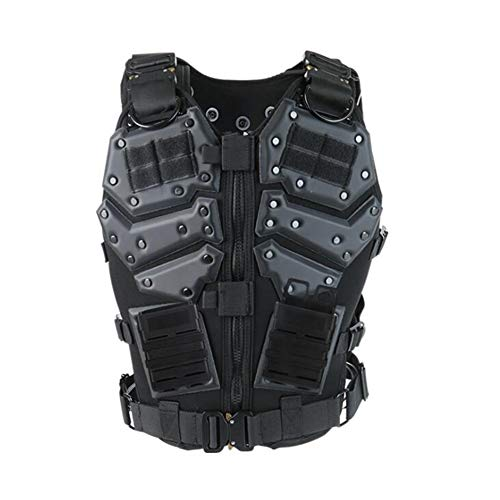 SXRL Body Guard Vest, Waistcoat Outdoor Carrier Equipment Training Cycling Gilet Skiing Motorcycle Motorcycle Jacket Motocross Skateboarding Chest Back Spine Protector (Black)