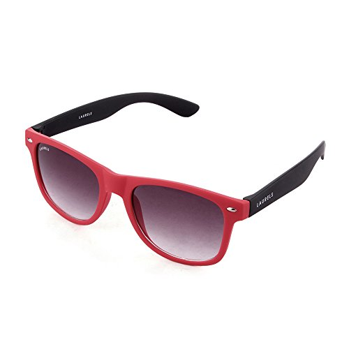 Laurels Wayfarer Sunglasses - Red & Black(WEG-0513M)
