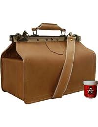 BARON of MALTZAHN Shoulder bag KOCH made of light leather - Leather care included