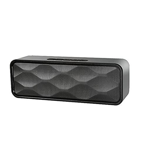 Micrael Home Outdoor Wireless Ultra Portable Bluetooth Powerful Bass Car Stereo Speaker Support Micro TF SD Subwoofer - Black