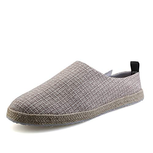 JIALUN-Shoes Mocasines para Hombre Alpargatas sin Cordones para Interiores, Informales, Puntera Redonda...