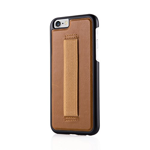 JAMMYLIZARD | Ultra Slim Silikonhülle für [ iPhone 6 & 6s 4.7 Zoll ] mit Tarnmuster, ROT / PINK / GRAU Selfie - CARAMEL