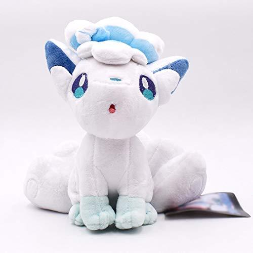 xuritaotao 20 cm Alola Ice Vulpix Plüschtier Kawaii Cartoon Anime Peluche Weiche Gefüllte Puppen Baby Spielzeug Geschenk Für Kinder Weihnachten
