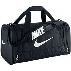 Nike Brasilia Sac de Sport Mixte Adulte, Noir/Blanc, Taille 6