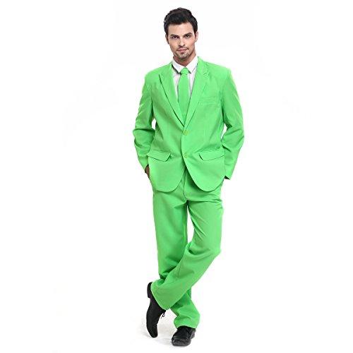 YOU LOOK UGLY TODAY Modisch Normaler Schnitt Herren Party Anzug Weihnachten Kostüme Festliche Anzüge Party Suits einheitliche Farbe (Jahre Outfits Beste 70er)