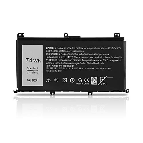 K KYUER 11.1V 74Wh 357F9 Gaming Laptop Akku für Dell Inspiron 15 7000 Series 7566 7567 7557 7559 5576 5577 INS15PD-1548B INS15PD-1548R INS15PD-1748B 0GFJ6 71JF4 Notebook Replacement Batterie