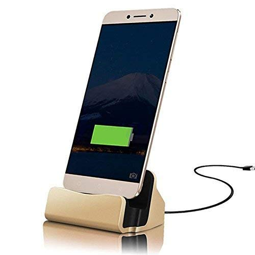 ONX3 Gold Desktop-Ladegerät Micro-USB-Basisstation Datensynchronisation Aufladen Dockingstation Kompatibel mit Cubot S350