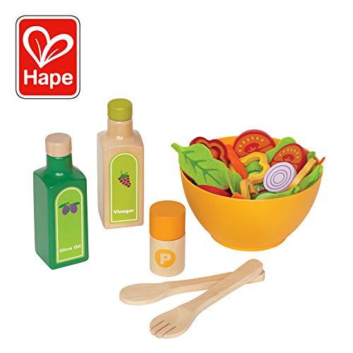 Hape E3116 Gartensalat-Set 36-teilig (Klar, Salz-und Pfefferstreuer)
