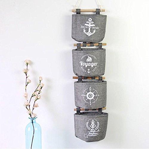 Las misceláneas sacos de tela puerta de la casa colgar de la pared de la decoración del organizador del almacenaje bolsillos