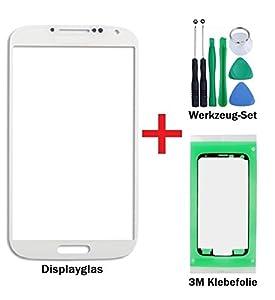 iTech Germany Displayglas Reparatur-Set für Samsung Galaxy Note 2 Weiss - Front Display Glas für Modell N7100 N7105 LTE + 3M Vorgeschnittene Klebefolie und 7-Stück Werkzeug-Set
