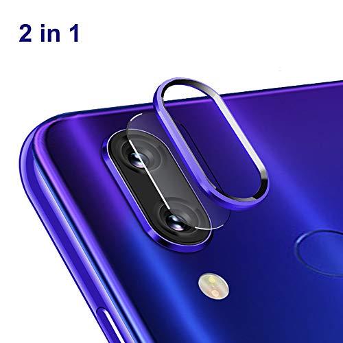 NOKOER Protector de Lente de Cámara para Xiaomi Redmi Note 7/Note 7 Pro, [2 en 1] Anillo Protector Metálico para la Cámara + Película Protectora para la Cámara, Lente de la Cámara de Protección - Azul
