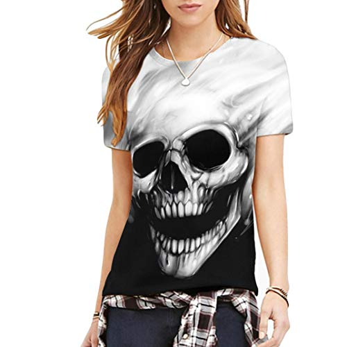 (Oliviavan,Frauen Plus Größe Octopus Printing Tees Shirt Kurzarm T-Shirt Bluse Tops)