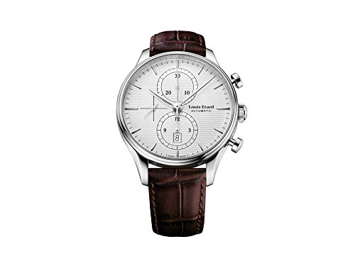 Louis Erard Héritage Classic Automatic Watch, Silver, Chronograph, Day