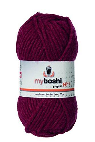 myboshi Häkel-/Strickgarn, Wolle-Mix, weinrot