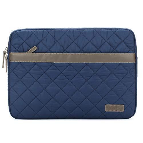 domiso 39,6cm Laptop Sleeve Soft Nylon Computer Bag Notebook Tasche Schutzhülle Cover Tablet Tasche mit Fluff für HP/Microsoft/Apple/Lenovo/Acer/Asus, blau -