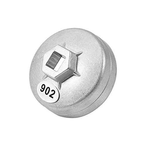 Qiilu 79mm 15 Fl/ûte Cl/é pour filtre /à huile en Aluminium Capuchon Filtre /À Huile Cl/é de Voiture