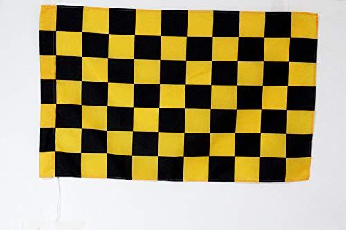 AZ FLAG Flagge Motorsport Weisse MIT ROTEM Kreuz 90x60cm - Formel 1 Fahne 60 x 90 cm Scheide für Mast - flaggen Top Qualität