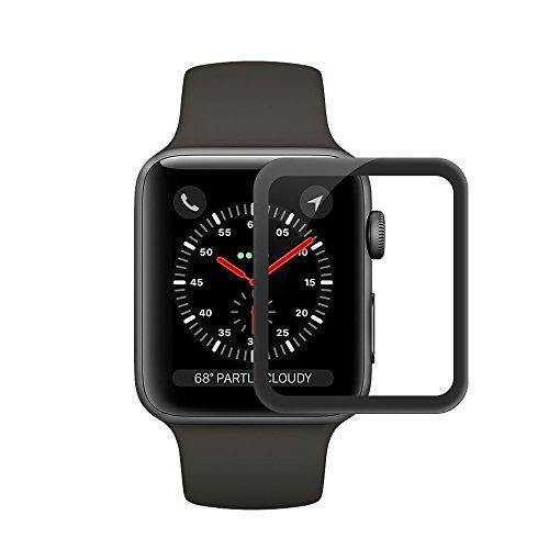 Apple iwatch Series 3 Protector de Pantalla,Ecoye full coverage 9H Dureza Vidrio Templado Cristal Templado para Apple Watch Series 3[42MM]