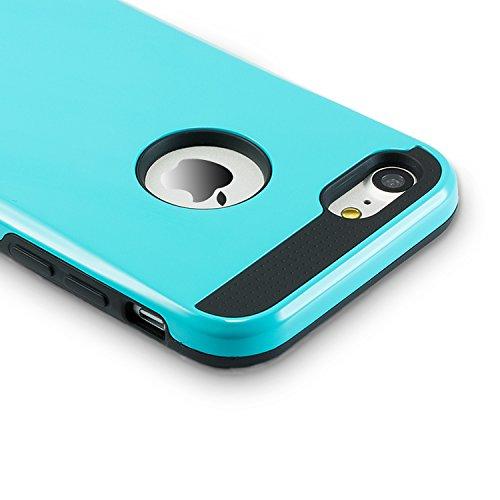 iPhone 7 Hülle, technext020 Matt haltbar Gel Rüstung für iPhone 7, Hybrid hartem Kunststoff und weichem Silikon Deckel Navy Grün