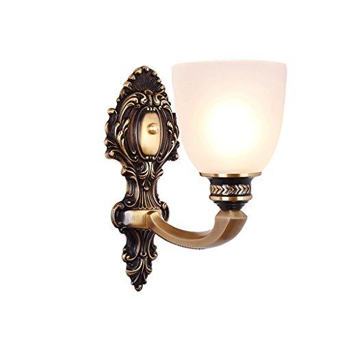 WYQLZ Pur cuivre Applique Chambre Chevet Rétro Salon Atmosphérique De Luxe Décoration Nuit Lumière
