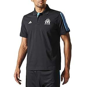 Adidas OM–Collection officielle OLYMPIQUE DE MARSEILLE Core Polo pour Homme Taille XXXL Black,Blue,White