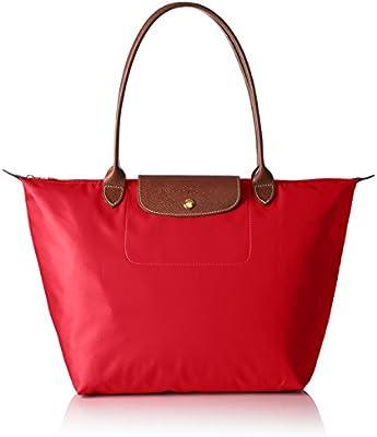 Longchamp - Bolso de tela para mujer rojo