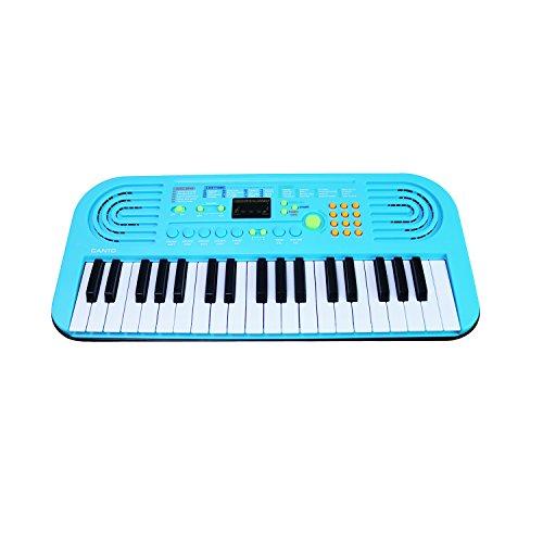Klavier für Kinder, Sanmersen 37 Schlüssel Große Multifunktions-Orgelmusik-Musikkinder Kinderspiel Klavier Pädagogisches Spielzeug für Kinder Jungen Mädchen Frühes Lernen (Blau)