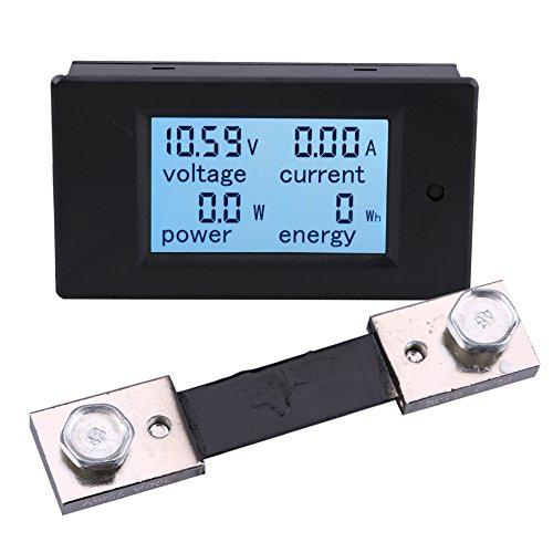 Dc Digital-multimeter (Yeeco LCD-Digital-Voltmeter Amperemeter Multimeter DC 6.5-100V Spannung Strom Volt Amp Meter Messgerät Power Monitor mit 100A Shunt)