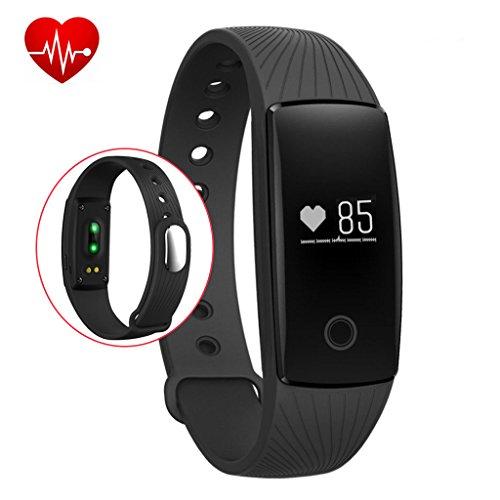 Fitness Tracker,Rixow Bluetooth 4.0 Smart-Sync-Armband, Wasserdicht IP65 Sport Armband Fitnessarmband mit Herzfrequenz / Schrittzähler / Kalorienzähler / Schlaf-Monitor / SMS Anrufe für smartphone