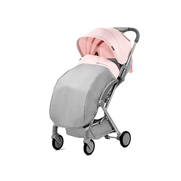 Kinderkraft Lightweight Stroller LITE UP, Baby Pushchair, Buggy, Compact Folding, Ajustable Footrest, Lying Position, with Accessories, Rain Cover, Footmuff, from Birth to 3.5 Years, 0-15 kg, Rosa kk KinderKraft Mechanism for easy folding with one hand After folding, the stroller resembles a briefcase You do not have to stop and move around the stroller to make eye contact with the child 5