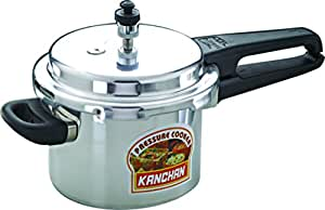 Kanchan Classic Aluminium 5 Ltr Outer Lid Cooker with 5 Years Warranty