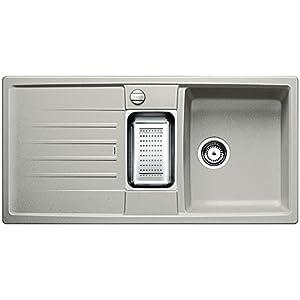 Blanco Lexa 6S–Fregadero para cocina, SILGRANIT Puradur, negro, 518621
