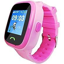 LLCOFFGA NiñOs Smartwatch TeléFono IP67 Reloj De Pantalla TáCtil A Prueba De Agua Posicionamiento GPS Voz