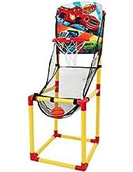 Blaze y el monstruo máquinas Junior Pro baloncesto neto Juego Conjunto de Kids interior auto de retorno de pelota de juguete para niños regalo