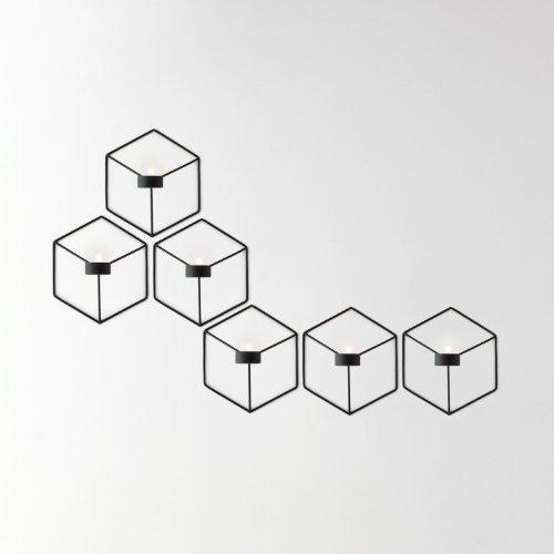 Menu 4766539 Wand-Kerzenhalter POV, 21 x 10,5 x 18,5 cm, schwarz - 4