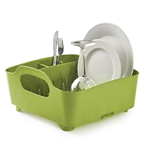Umbra Tub Dish Drying Rack, Avocado