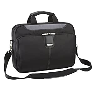 Targus TBT23102EU Transit Topload Laptop Bag / Case fits 14.1 inch Laptops, Black / Grey