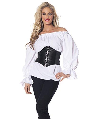 Renaissance Long Sleeve White Blouse Adult -